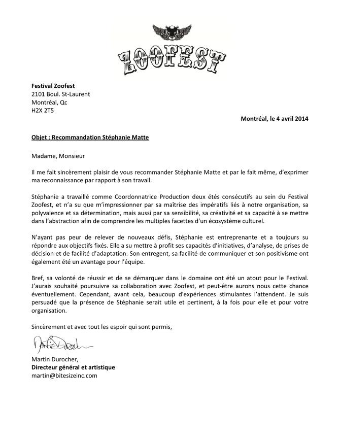 lettre de recommandation artiste LETTRES DE RECOMMANDATION // LETTERS OF RECOMMENDATION   Stéphanie  lettre de recommandation artiste