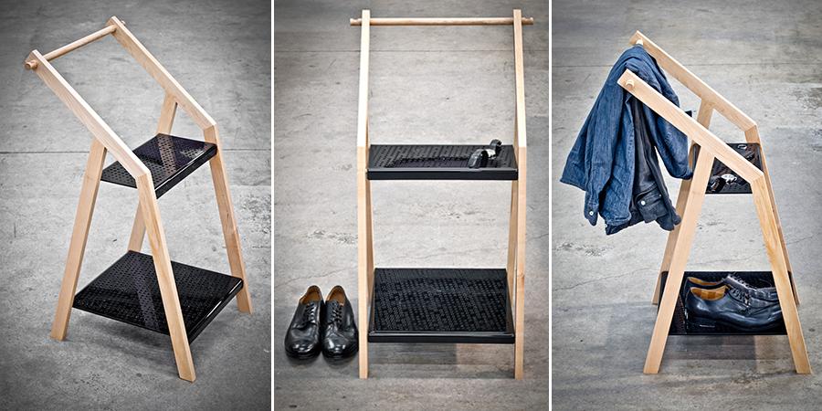 lide de cette chaise tait de crer des lments simples usiner et assembler les pattes et dossier sont usins mis bois et sembotent lun dans - Valet Chaise Bois